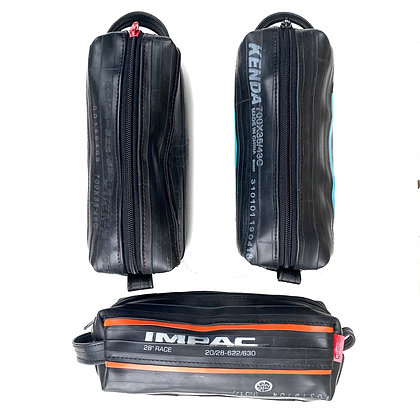 Wash Bag | Bicycle Inner Tube | small with stripes