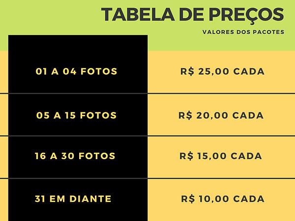 tabelo preços