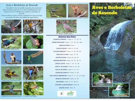 Participação no folder de Aves e Borboletas de Resende-RJ