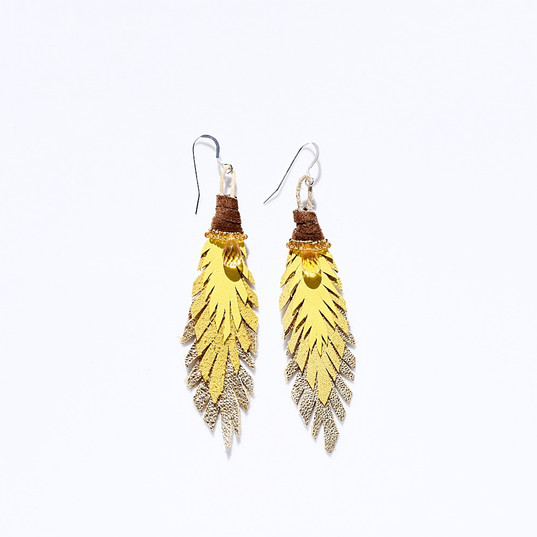 Lahaina Sun Feathers with Lemon Quartz