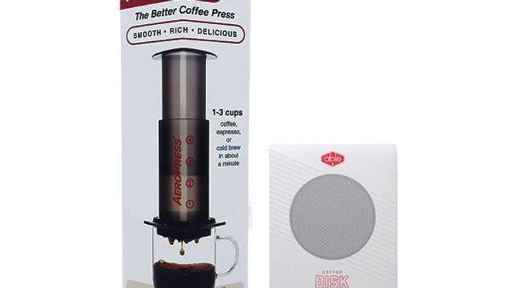 AeroPress Coffee Maker inc 350 Filters