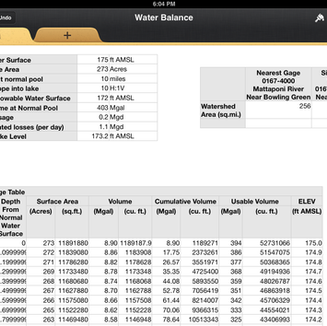 Water Balance Modeling