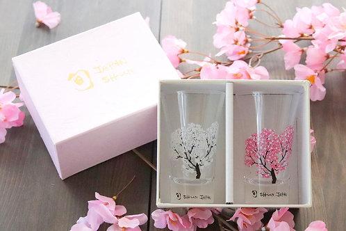 Tenkai Glass Sakura (Set of 2 Pcs)