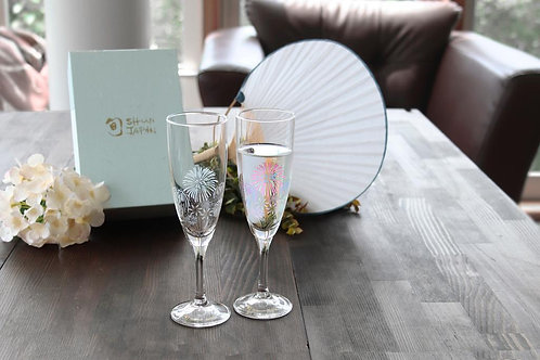 Champagne Glass Hanabi (Set of 2 Pcs)