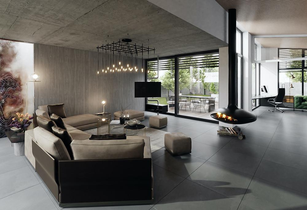 inaas minimalistická obývacia izba pbývačka interiérový dizajn interiér dizajnéri