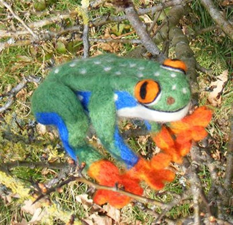 felt frog (Medium)