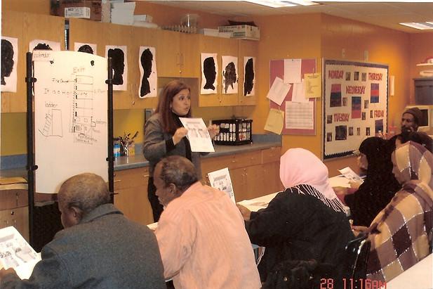 Brianda teaching a class