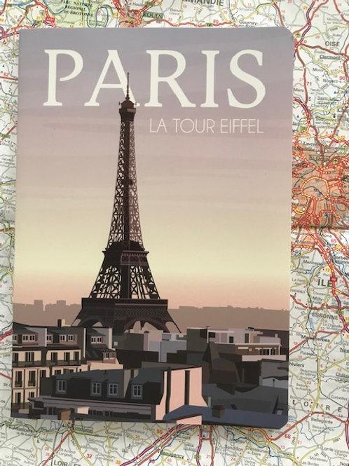 Cahier Paris la Tour Eiffel
