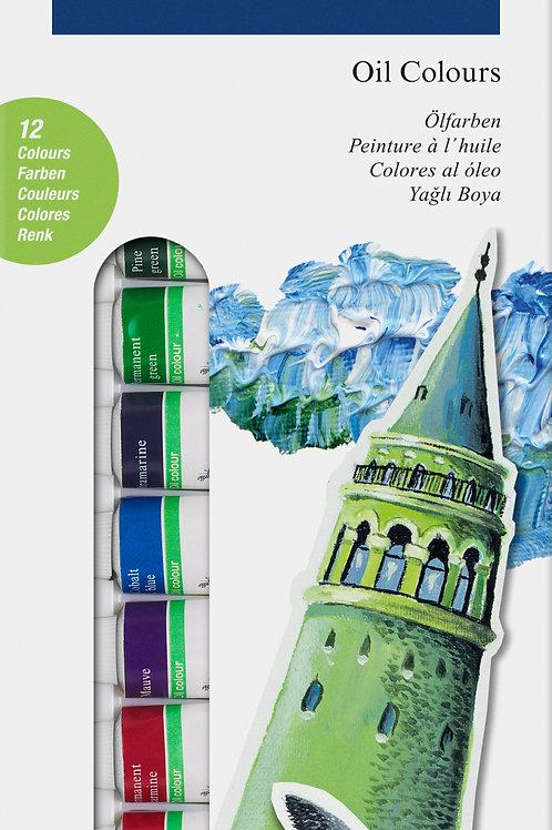 Boite de 12 tubes de peinture à l'huile Faber Castell