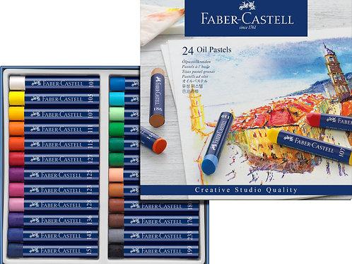 Boite 24 pastels huile Faber Castell