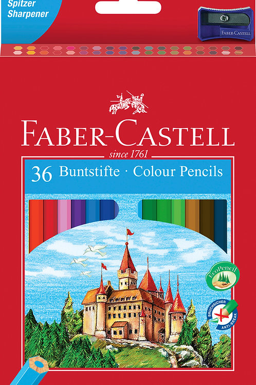 Etuis 36 crayons couleurs Chateau Faber Castell