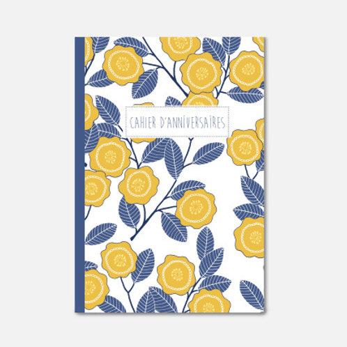 Cahier d'Anniversaire fleurs