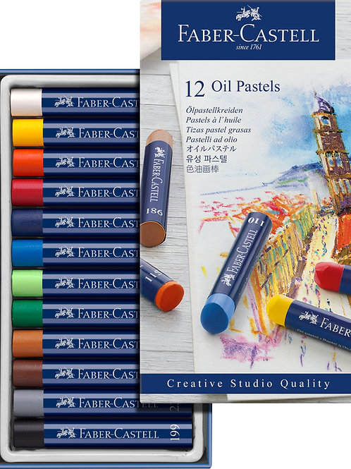 Boite 12 pastels huile Faber Castell
