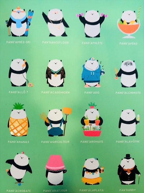Carnet bandes de Pandas