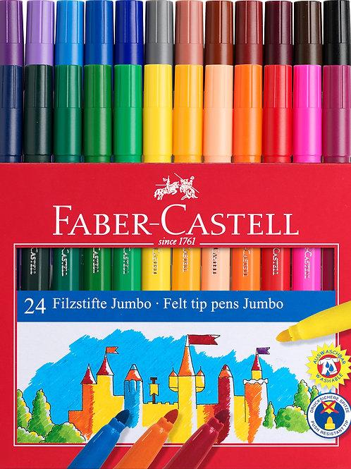 Boite 24 feutres Jumbo Faber Castell
