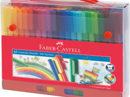 Malette 60 feutres Connector Faber Castell