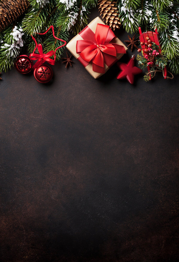 Christmas background with fir tree and d