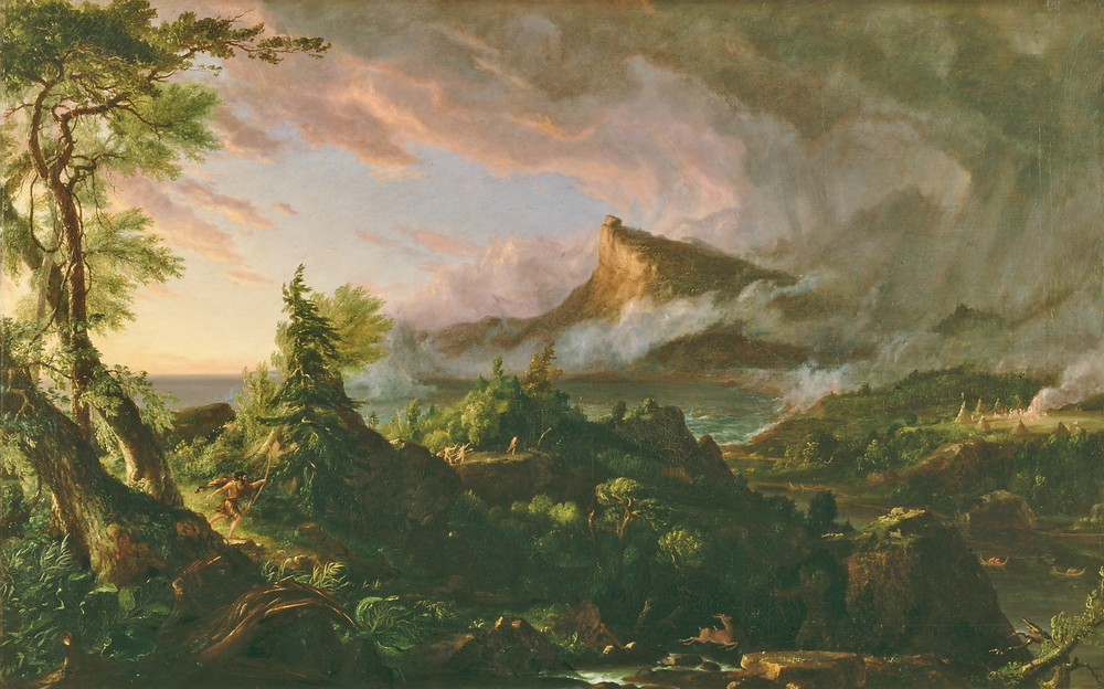 """""""The Savage State"""" by Thomas Cole"""