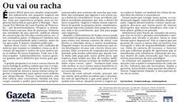 Jornal -Ou vai ou Racha