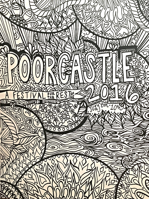2016 Hand-Illustrated 8x11 Coloring Sheet