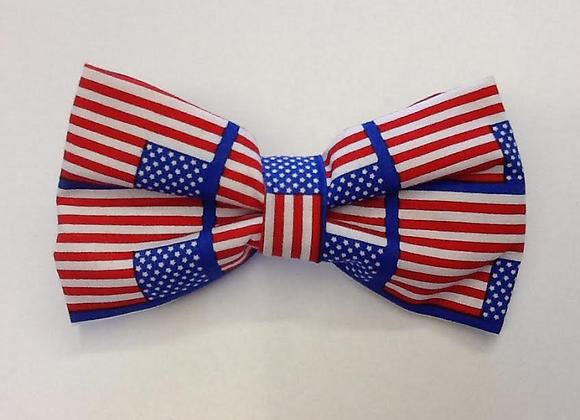 American Flag Print Bow Tie