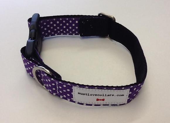 Purple & White Spot Collar