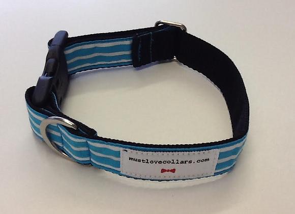 Blue & White Stripe Collar