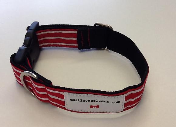 Red & White Stripe Collar