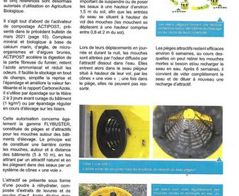Lutte contre les mouches : Un produit autorisé en élevage biologique