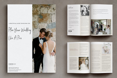 PLAN YOUR WEDDING LIKE A PRO! EBOOK