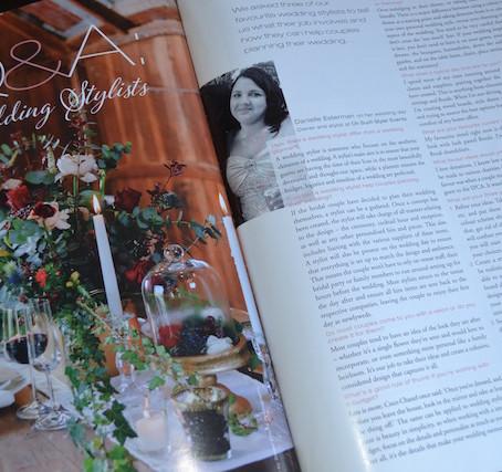 Bride + Groom Magazine Interview
