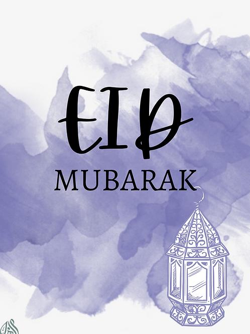 Purple Eid Card