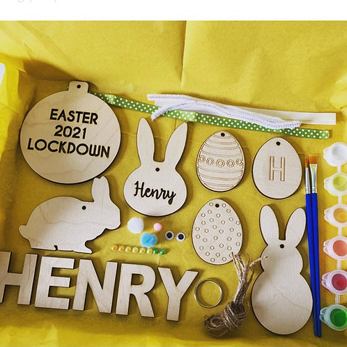 Easter Personalised Postal Paint Pack Arts & Crafts