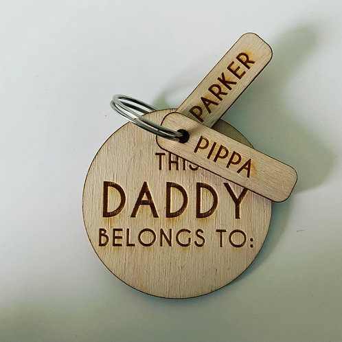 Personalised Engraved Birch Ply Family Keyring