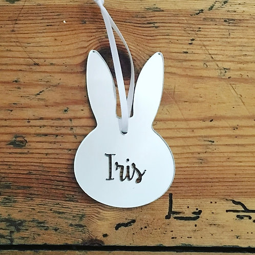 Personalised Name Easter Bunny Decoration