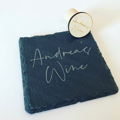 Personalised Square Slate Coaster