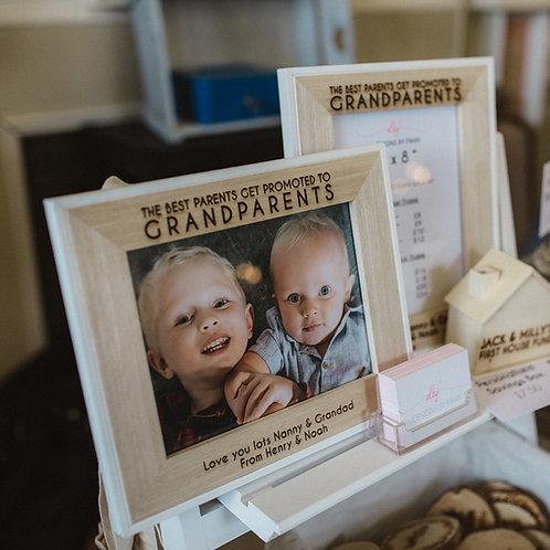 Personalised Engraved Grandparent Veneer Photo Frame