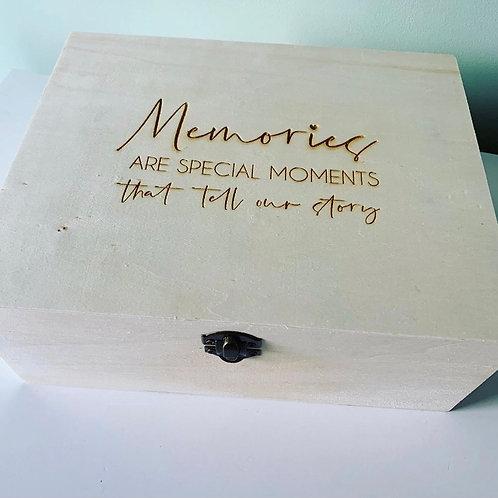 Personalised Memories Engraved Keepsake Box Large Birthday, Anniversary, Gift