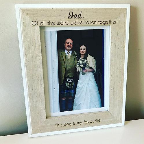Engraved Dad Daughter Veneer Photo Frame