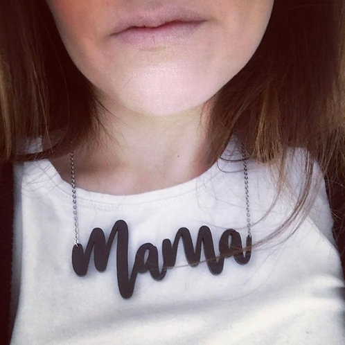 Perspex Mama Necklace Jewellery For Mum (personalisation available)