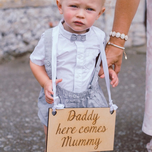 Personalised Engraved Wooden Plaque Page Boy Flower Girl Wedding Day