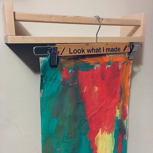 'Look what I made' artwork painting hanger