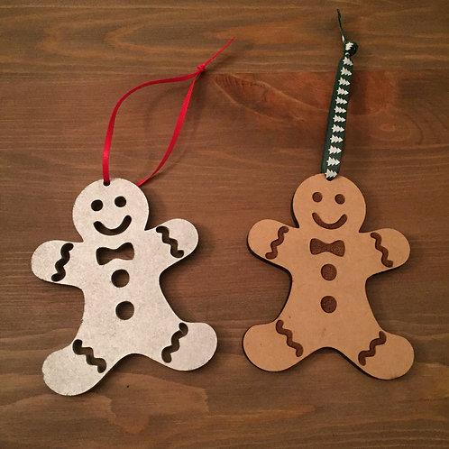 Laser Cut Wooden Gingerbread Man Christmas Decoration