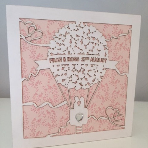 Pack Of 10 Laser Cut Personalised Wedding Invitation White