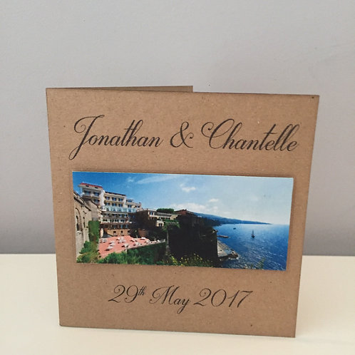 10 Pack Of Personalised Photographic Wedding Invitations