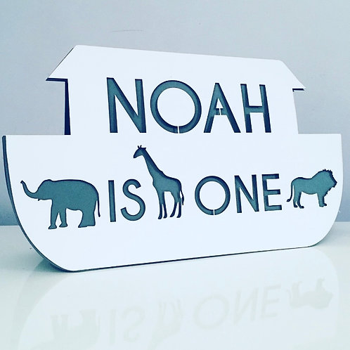 Laser Cut Noah's Ark Animal Card With Personalised Text