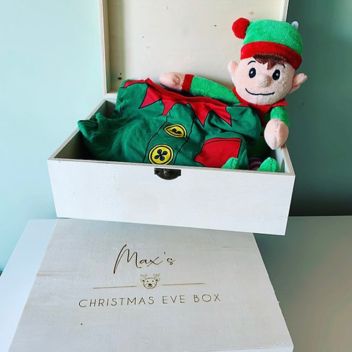 Personalised Christmas Eve Box With Closing Lid Clasp