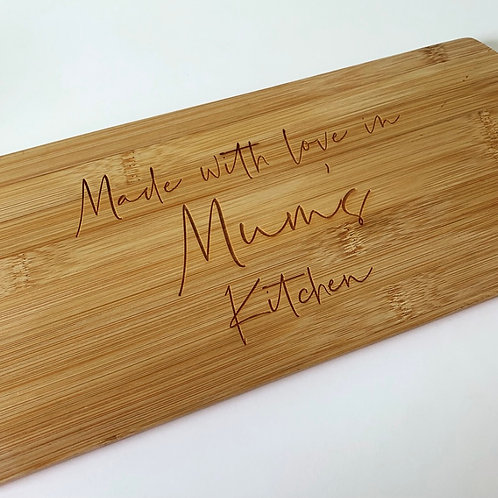Made With Love Personalised Engraved Chopping Paddle Board
