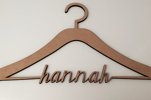 Personalised Wooden Name Hanger Favour or Gift
