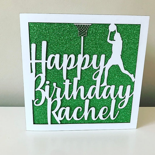 Bespoke Design With Personalised Text Laser Cut Birthday Card
